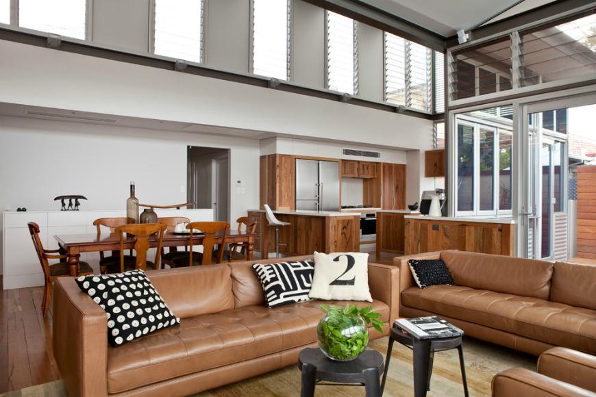 brown leather sofa Living Room Inspiration: Brown Leather Sofa Living Room Inspiration: Brown Leather Sofa tan leather sofa 10