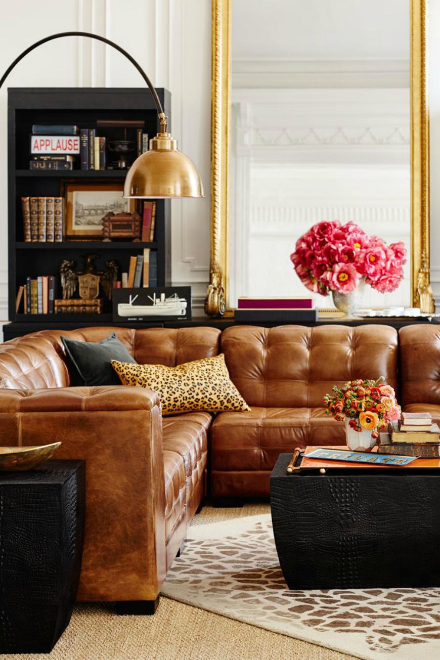 brown leather sofa Living Room Inspiration: Brown Leather Sofa Living Room Inspiration: Brown Leather Sofa tan leather sofa 6