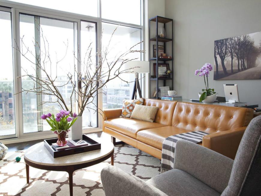 brown leather sofa Living Room Inspiration: Brown Leather Sofa Living Room Inspiration: Brown Leather Sofa tan leather sofa 7