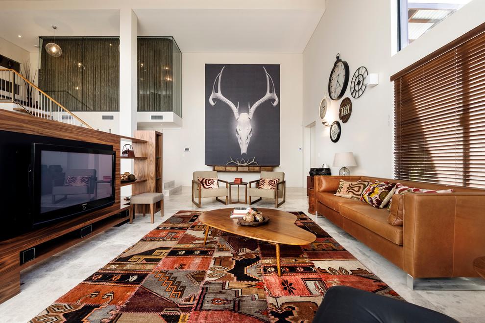 Living Room Inspiration Brown Leather Sofa Modern Sofas