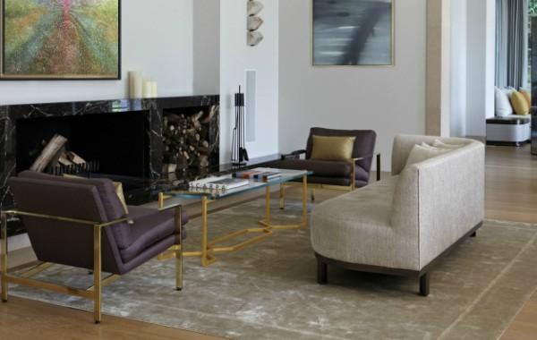 Modern Sofas in living room projects byMartin Brudnizki