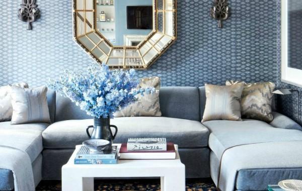 small living room 10 Corner Sofa Ideas For A Stylish Small Living Room blue sofa 2 600x380