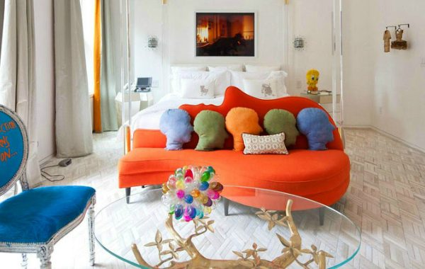10 Reasons To Add An Orange Sofa To Your Living Room Set