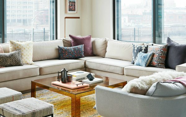How To Create An Elegant Lounge Space With Neutral Sectional Sofas
