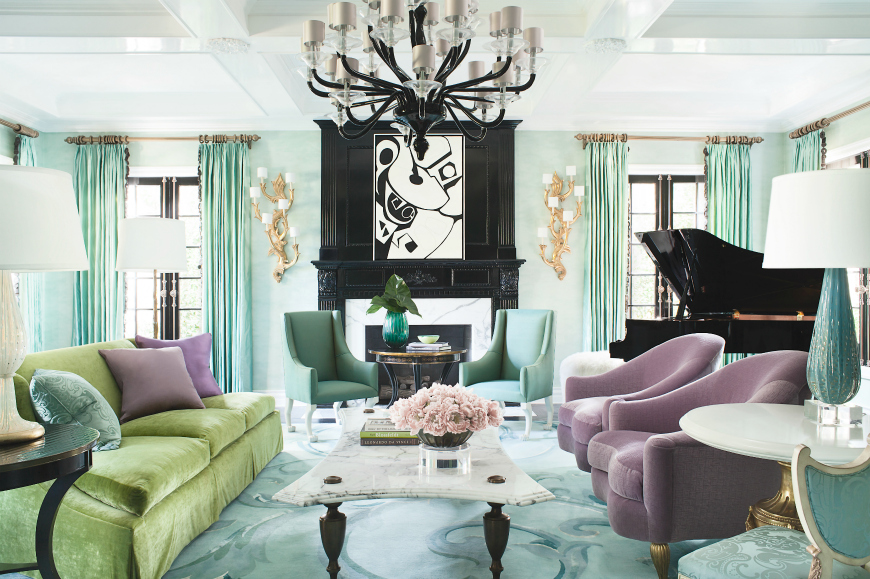 6 Colorful Modern Sofas In Living Room Projects By David Dalton