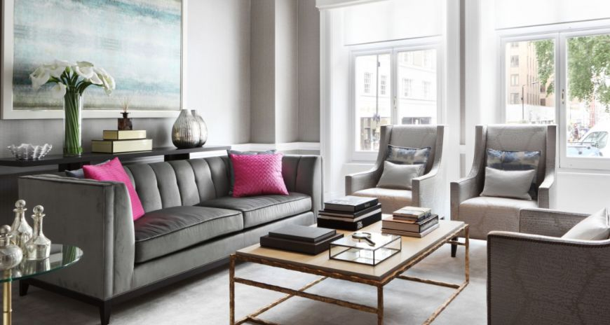 The Most Glamorous Living Room Ideas By Taylor Howes Modern Sofas