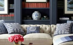 How To Style A BookShelf Behind Your Living Room Sofa