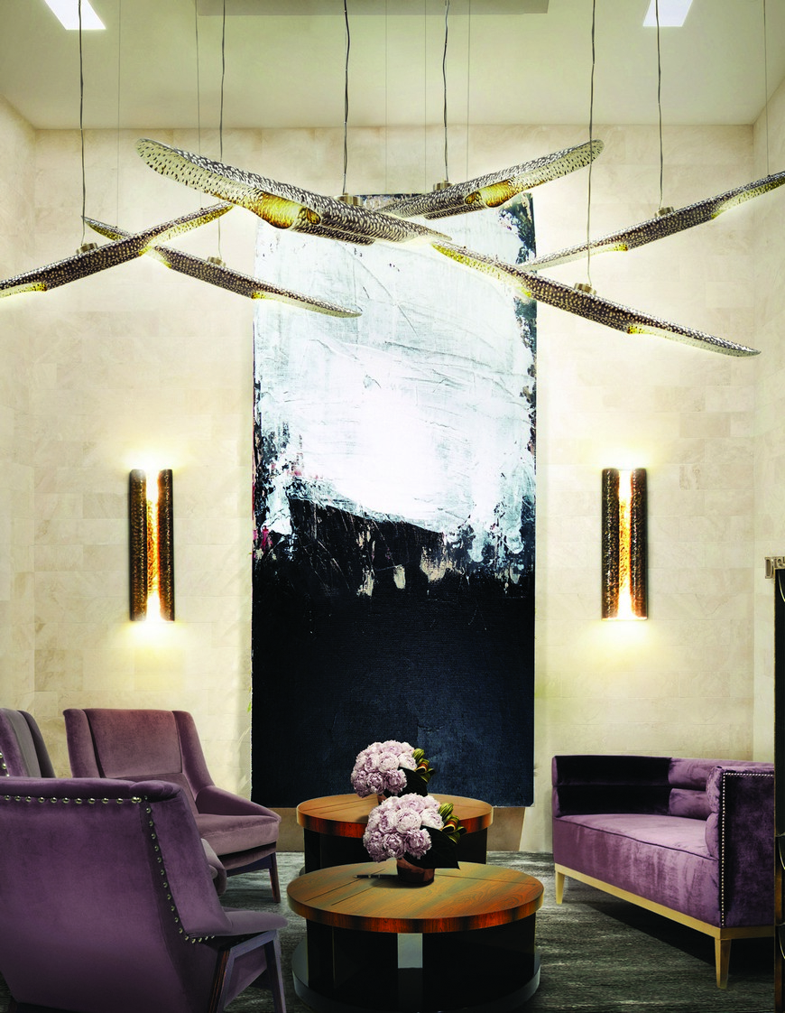 10 Striking Modern Lamps To Place Around Your Living Room  living room sofa 10 Striking Modern Lamps To Place Around Your Living Room Sofa BB Hotel 5 1
