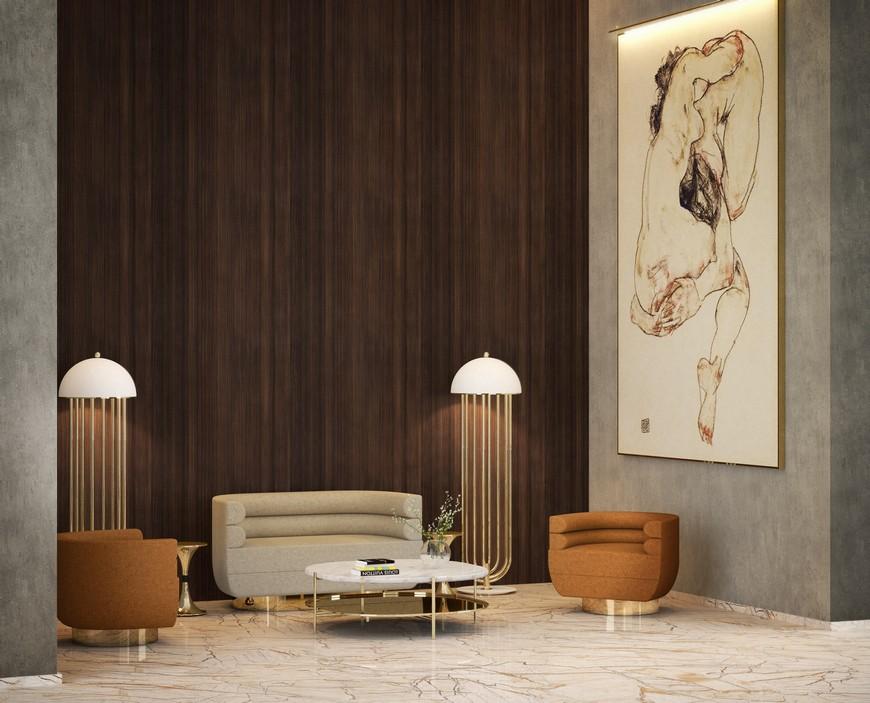 living room sofa 10 Striking Modern Lamps To Place Around Your Living Room Sofa DL Living Room 52