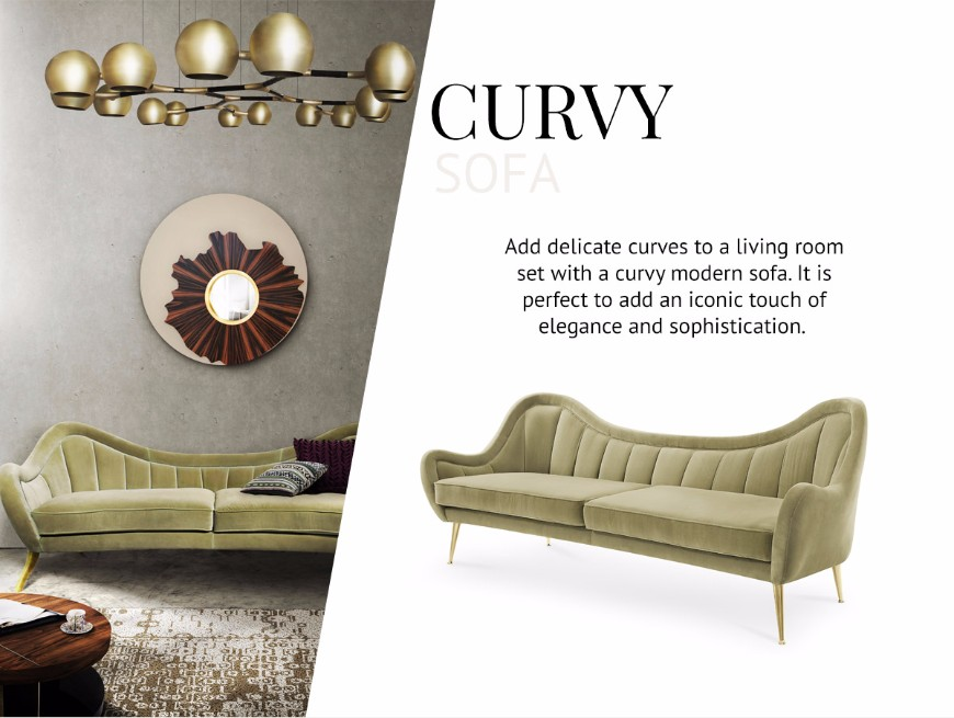 How To Pick The Type Of Sofas That Works Better For You modern sofas How To Pick The Type Of Modern Sofas That Works Better For You Curvy