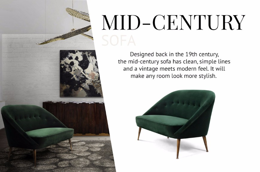 How To Pick The Type Of Sofas That Works Better For You modern sofas How To Pick The Type Of Modern Sofas That Works Better For You Mid Century