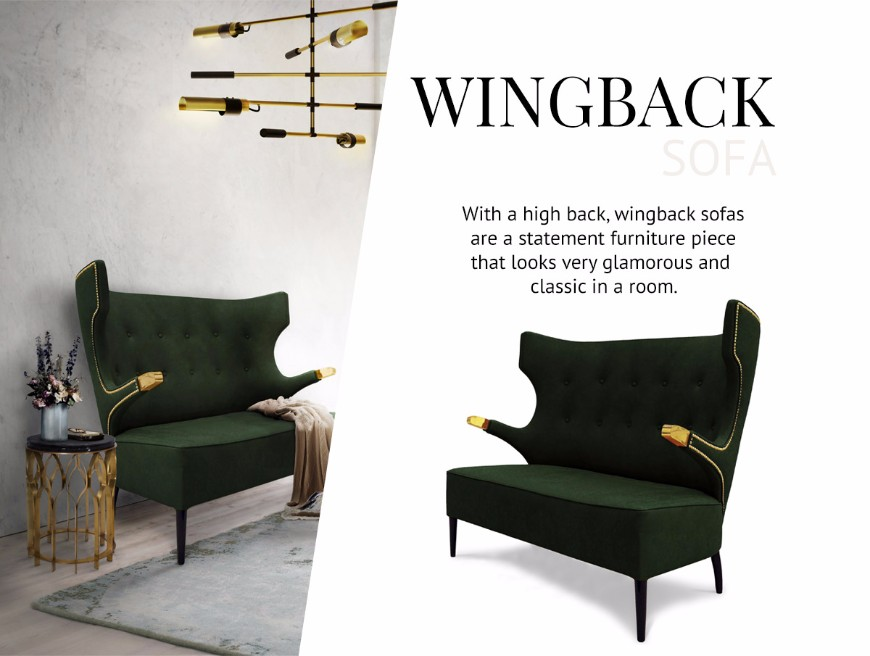 How To Pick The Type Of Sofas That Works Better For You modern sofas How To Pick The Type Of Modern Sofas That Works Better For You Wingback