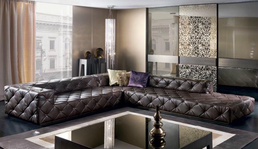 leather sofas 6 Modern leather sofas in the interior of the living room 6 Modern leather sofa in the interior of the living room5