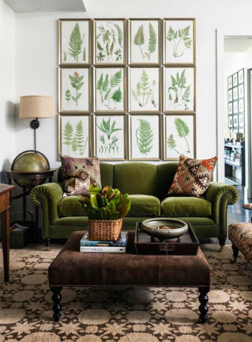 sofas velvet sofa An ElegantVelvet Sofafor a Warm Living Room Set 7 Modern Sofas That Are Perfect For Fall 2017