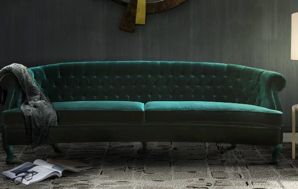Moody green sofas on the top of the 2018 design trends