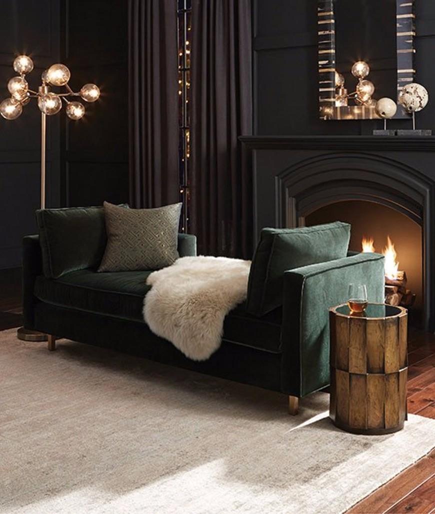 velvet sofas velvet sofa An ElegantVelvet Sofafor a Warm Living Room Set The Most Popular Modern Sofas On Pinterest Right Now 2