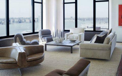 Sumptuous Grey Modern Sofas