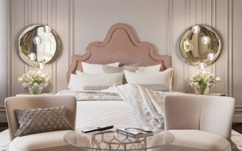 Luxury Bedroom Designed with Modern Sofas