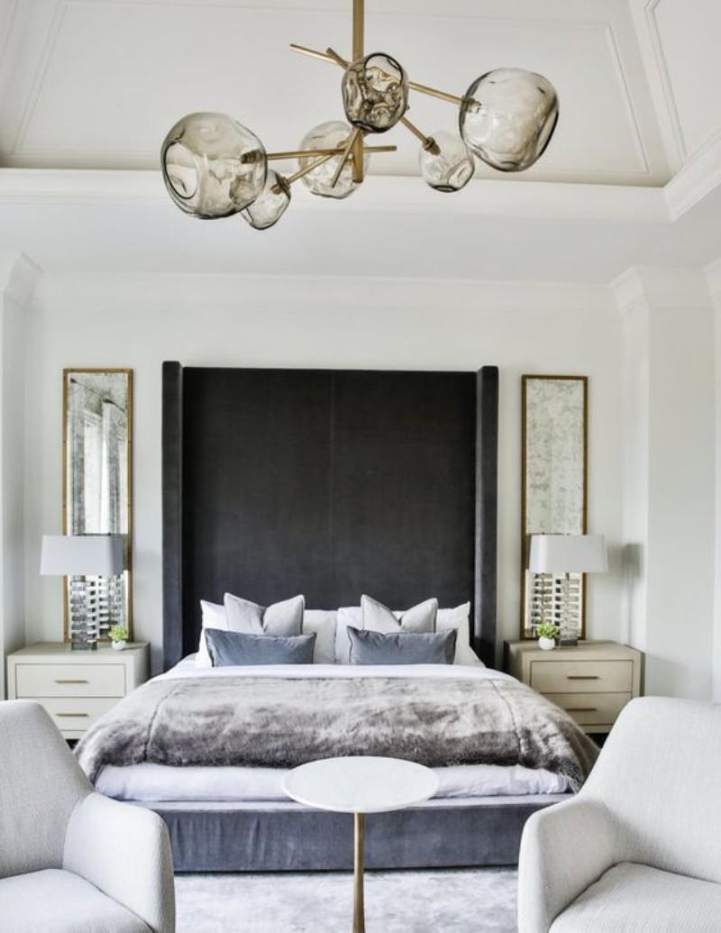 Bedroom Designed with Modern Sofas