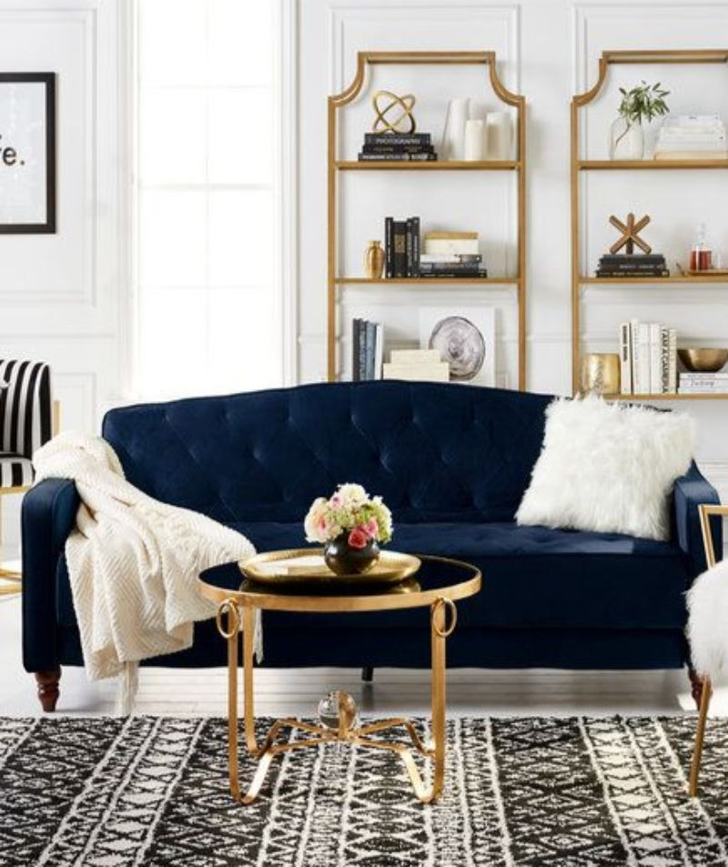 Blue Velvet Sofas To Your Living Room Decor Modern Sofas